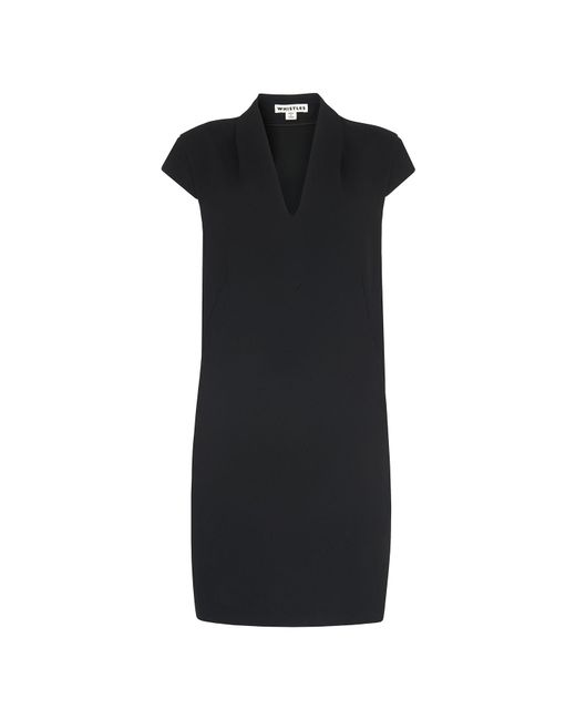 Whistles - Black Paige V Neck Crepe Dress - Lyst