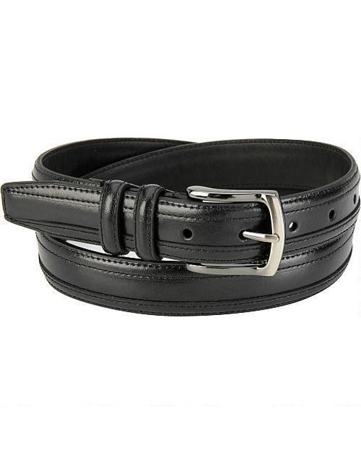 Wilsons Leather - Black Edge Overlay Leather Belt for Men - Lyst
