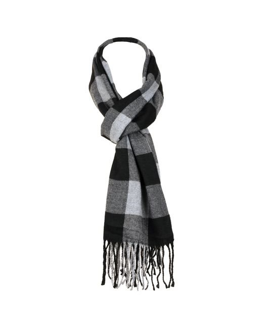 Wilsons Leather - Black Plaid Woven Scarf for Men - Lyst