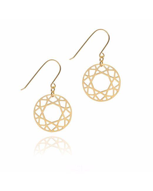 Myia Bonner - Metallic Gold Brilliant Diamond Drop Earrings - Lyst