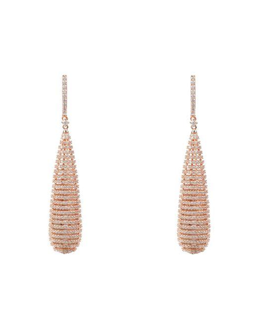 Latelita London - Multicolor Athena Spiral Earrings Rosegold - Lyst