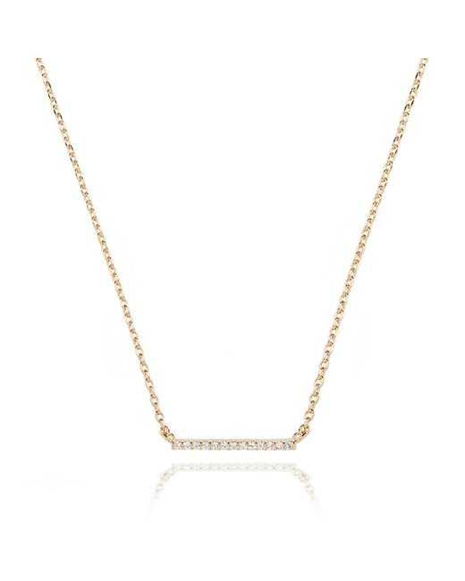 Astrid & Miyu - Metallic Walk The Line Small Bar Necklace In Gold - Lyst