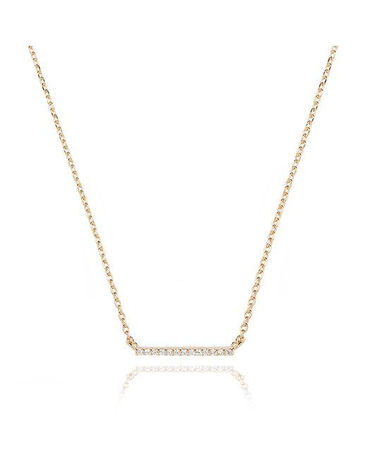 Astrid & Miyu | Metallic Walk The Line Small Bar Necklace In Gold | Lyst