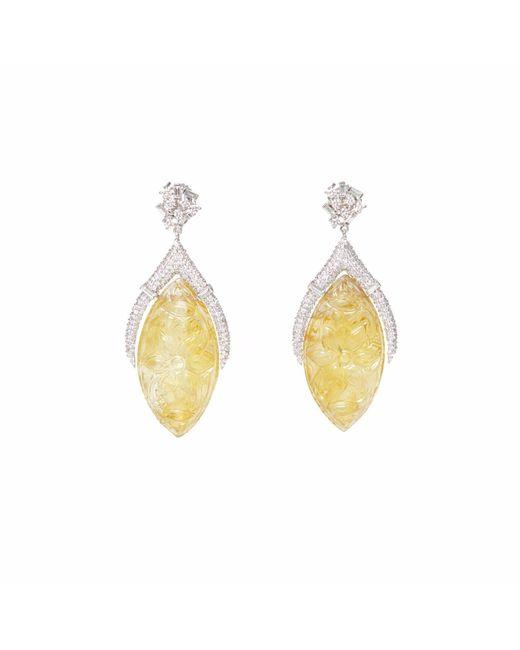 Ri Noor   Yellow Carved Citrine Earrings   Lyst