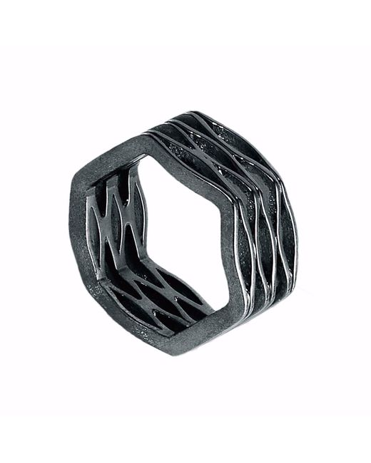 Neola | Metallic Onda Sterling Dark Silver Ring | Lyst