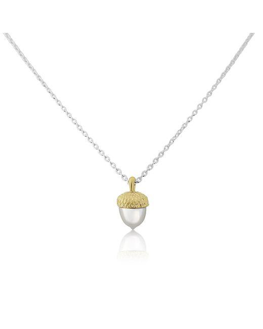 Auree Jewellery | Metallic Sherwood Silver & Gold Acorn Necklace | Lyst
