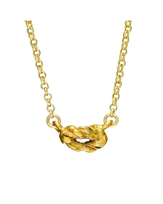 Chupi   Metallic Forget Me Knot Necklace In Gold   Lyst