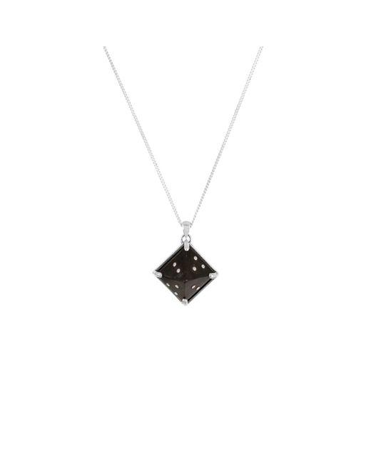 No 13 - Sami Black Pyramid Pendant Necklace - Lyst