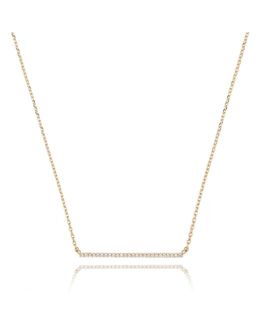 Astrid & Miyu - Metallic Walk The Line Big Bar Necklace In Gold - Lyst
