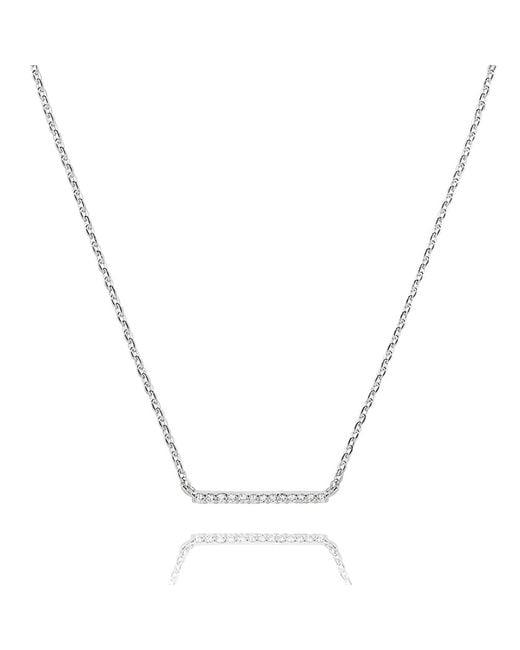 Astrid & Miyu - Metallic Walk The Line Small Bar Necklace In Silver - Lyst