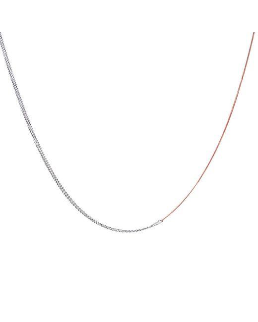 Dutch Basics - Metallic Interlinked Chain Necklace Rose Gold - Lyst