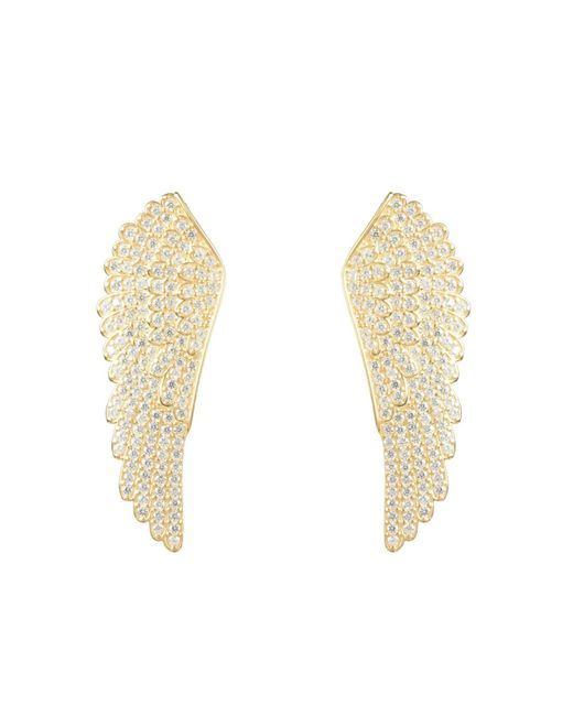 Latelita London - Metallic Large Angel Wing Earring Gold - Lyst