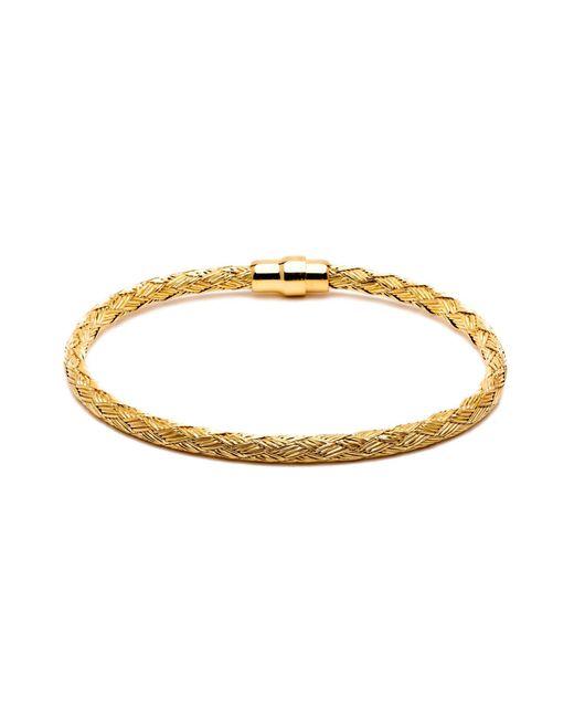 Durrah Jewelry - Metallic Gold Woven Bracelet For Him for Men - Lyst