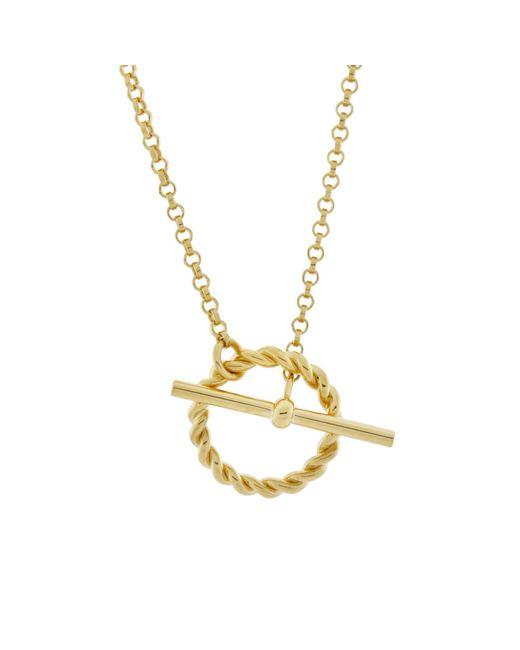 Monarc Jewellery - Metallic Corda T-bar Necklace Gold Vermeil - Lyst