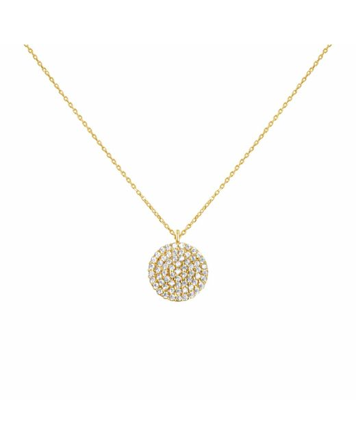 Talia Naomi | Metallic Golden Eclipse Pavé Necklace Gold | Lyst