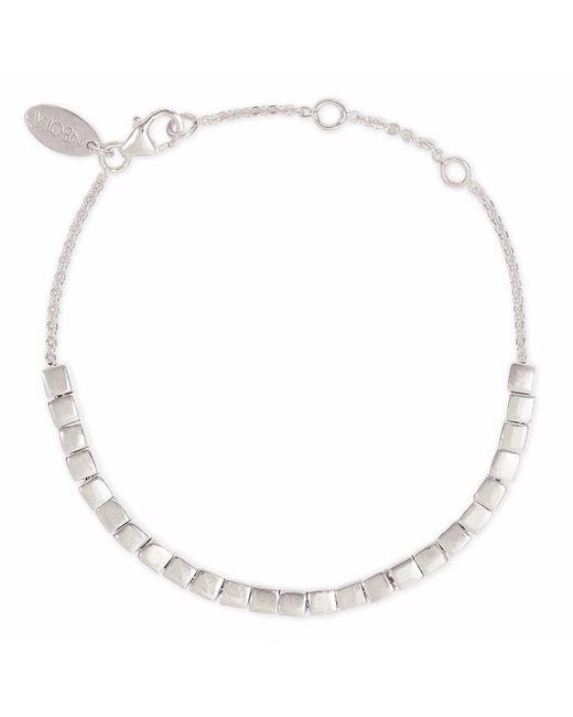 Neola - Metallic Cube Bracelet In Sterling Silver - Lyst