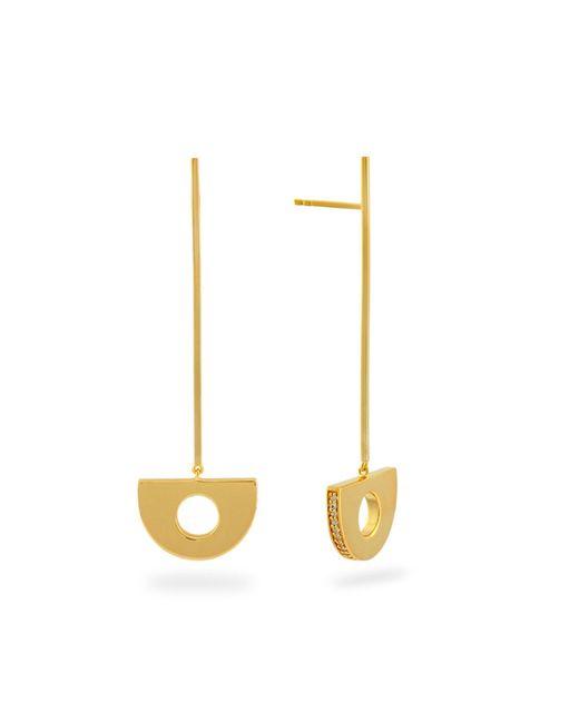 Monarc Jewellery - Metallic Arc Pendulum Drop Earrings In Gold - Lyst