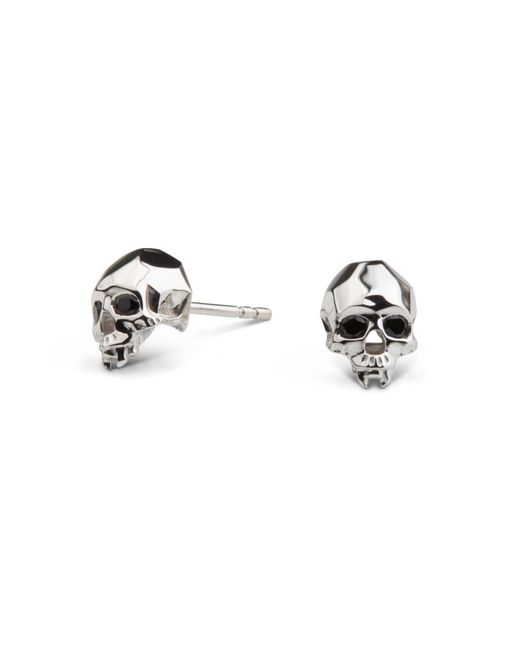 Kasun - Metallic Vampire Skull Stud Earrings Silver - Lyst