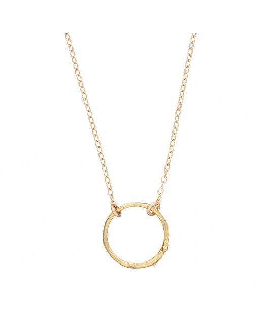 Chupi - Metallic Hawthorn Twig Infinity Necklace Gold - Lyst