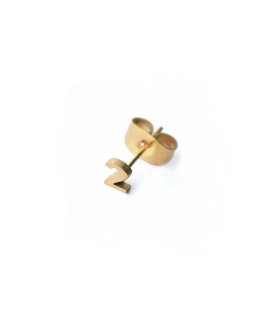 Whistle & Bango | Metallic Little Number 2 Earring 18ct Plating | Lyst