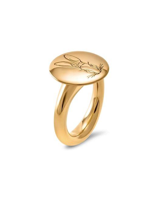 Hargreaves Stockholm | Metallic Bracteate Gold Signet Ring | Lyst
