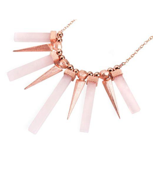 Ona Chan Jewelry | Pink Dagger & Stone Pendant Necklace Rose Quartz | Lyst