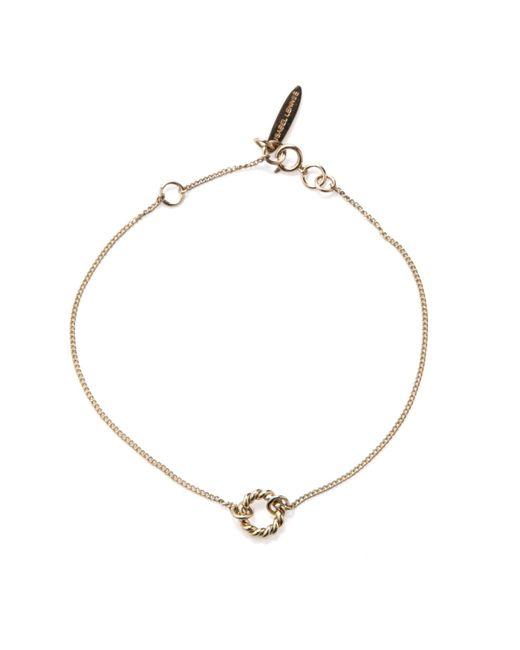 Isabel Lennse   Metallic Extra Small Twisted Circle Gold Bracelet   Lyst