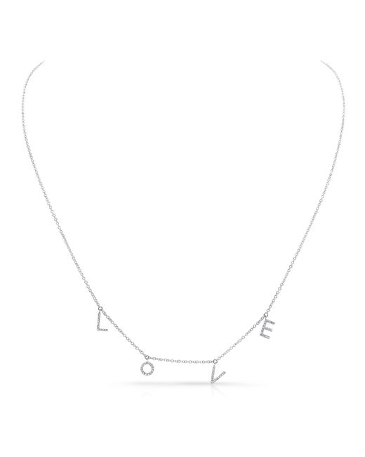Anne Sisteron | White Gold All Diamond Love Necklace | Lyst