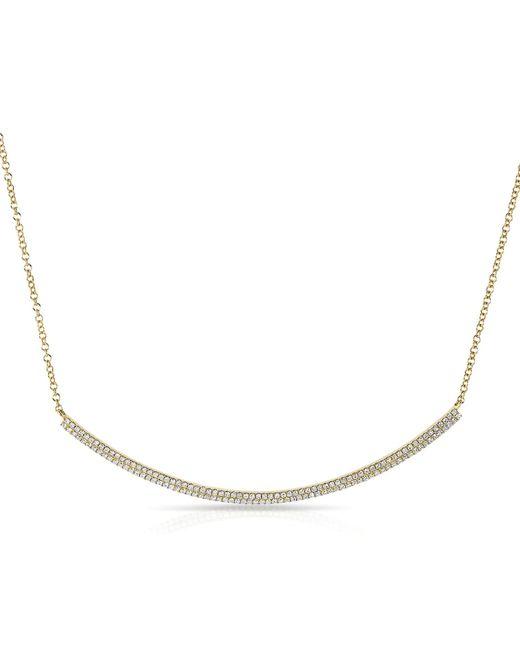 Anne Sisteron   Metallic 14kt Yellow Gold Diamond Double Sleek Crescent Necklace   Lyst
