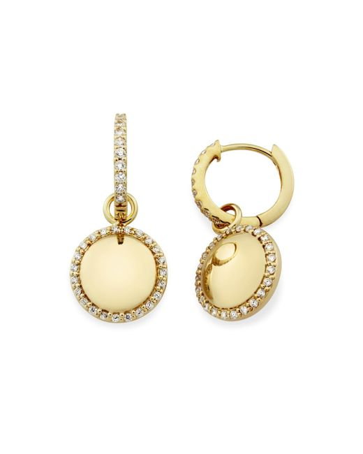 Monarc Jewellery - Metallic The Aurora Dome Drops 9ct Gold And White Topaz - Lyst