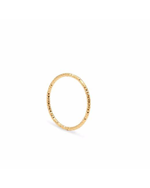 Myia Bonner | Metallic Gold Skinny Diamond Faceted Stacking Ring | Lyst
