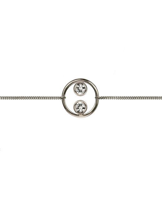 Lee Renee - Metallic Halo Bracelet Silver & White Sapphires - Lyst
