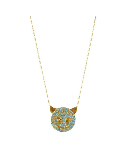 Talia Naomi | Metallic Trust Issues Turquoise Necklace Gold | Lyst