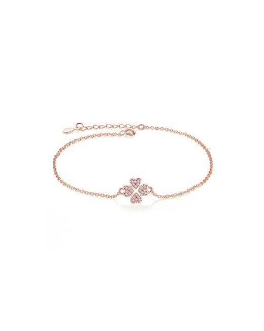 Opes Robur | Metallic Four Leaf Rose Clover Sterling Silver Bracelet | Lyst