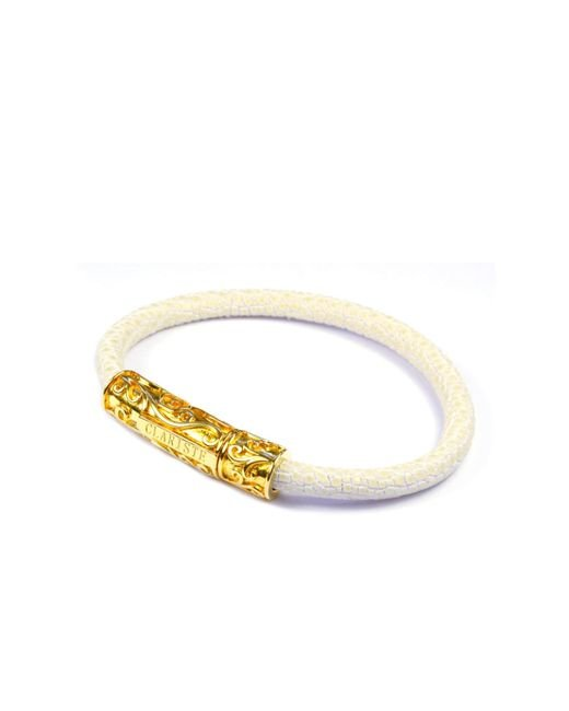 CLARISTE JEWELRY | Metallic Women's White Stingray Bracelet With Gold Lock | Lyst