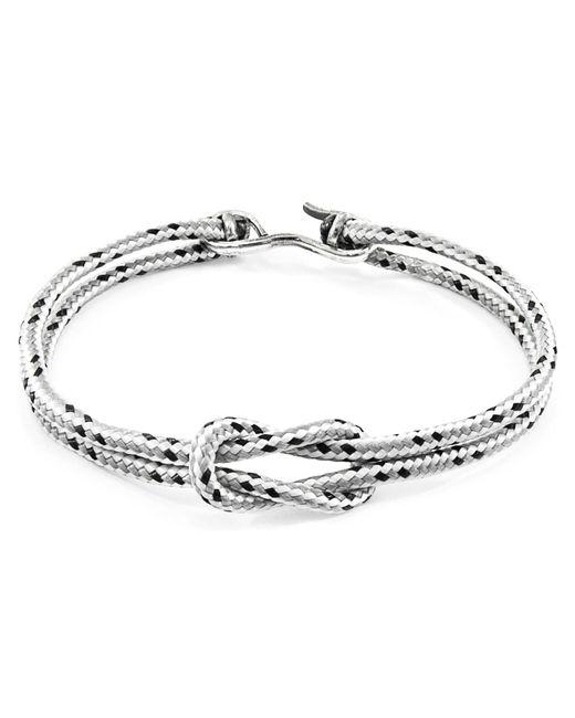 Anchor & Crew - Metallic Grey Dash Foyle Silver & Rope Bracelet for Men - Lyst