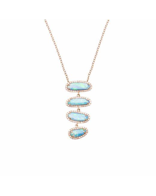 Ri Noor | Multicolor Four Opal Slice Necklace | Lyst