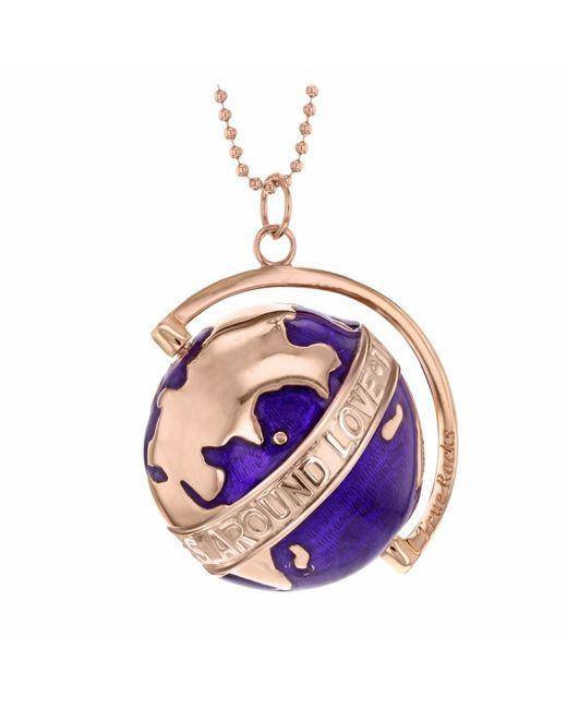 True Rocks | Multicolor Large Globe Necklace Rose Gold & Purple Enamel | Lyst