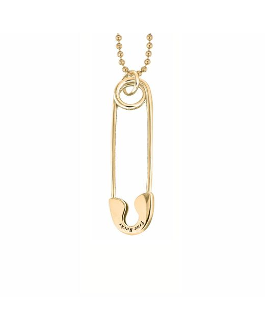 True Rocks   Metallic Safety Pin Necklace Small Gold   Lyst
