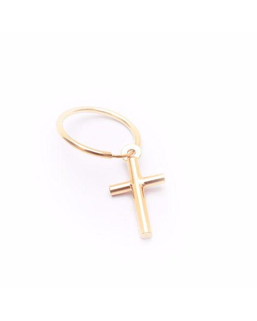 Serge Denimes | Metallic Yellow Gold Cross Earring | Lyst