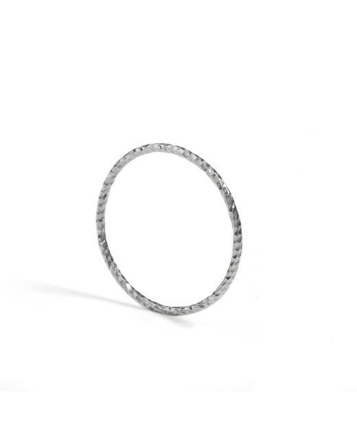 Myia Bonner   Metallic Silver Ultra Skinny Diamond Stacking Ring   Lyst