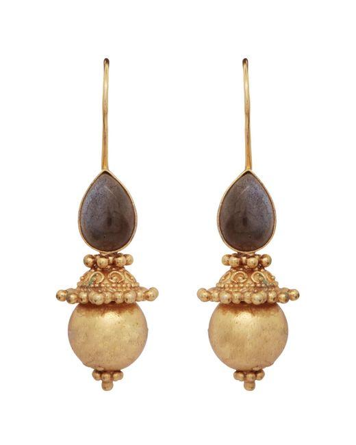 Carousel Jewels | Metallic Labradorite & Gold Sphere Earrings | Lyst