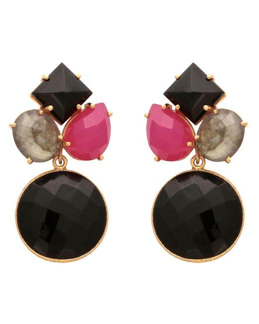 Carousel Jewels | Black Onyx Art Deco Round Drop Earrings | Lyst