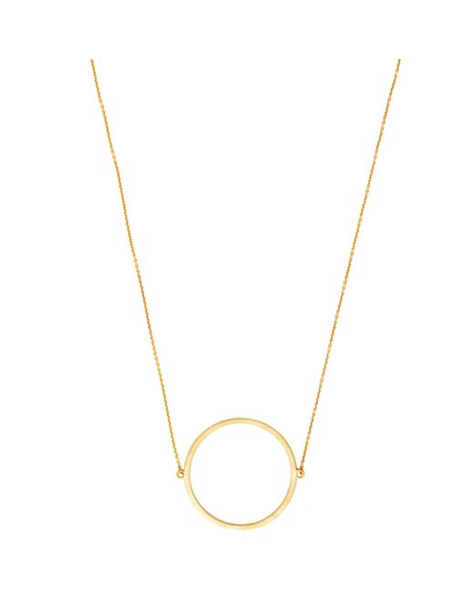 Dutch Basics | Metallic Circle Necklace Gold | Lyst