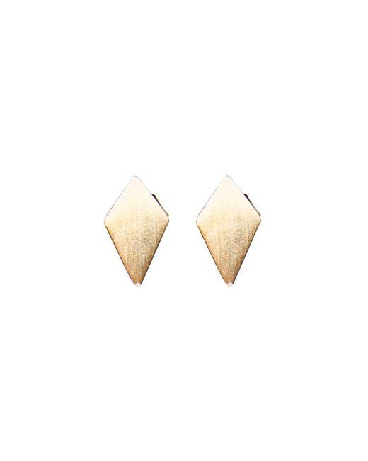 Dutch Basics | Metallic Ruit Stud Earrings | Lyst