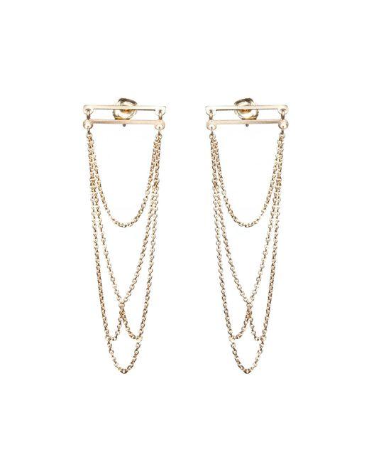 Dutch Basics | Metallic Boog Drop Earrings Straight Gold | Lyst
