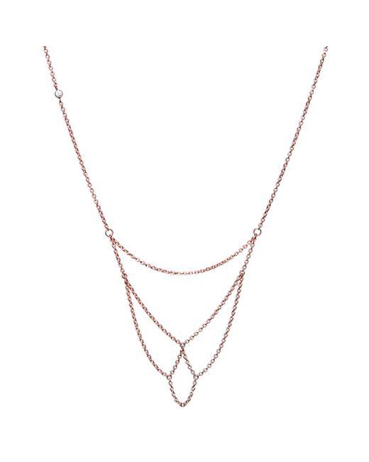 Dutch Basics | Metallic Boog Fine Chain Necklace Rose Gold | Lyst