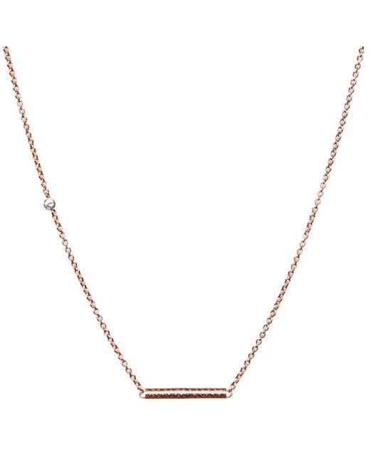 Dutch Basics | Pink Cylinder Fine Chain Necklace Rose Gold | Lyst
