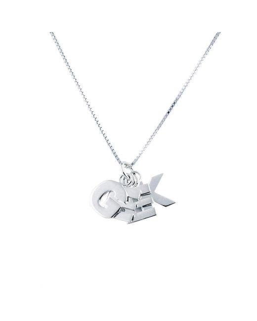 Edge Only | Metallic Geek Pendant Silver | Lyst