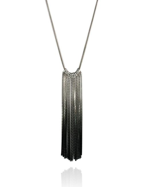 Cara Tonkin | Black Vesper Full Necklace Oxidised & Silver | Lyst
